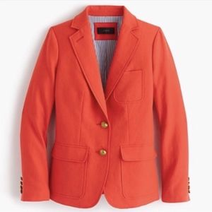 J. Crew Linen Rhodes Blazer in Fiery Sunset